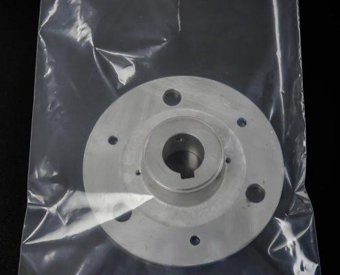 Sacs industriel en polyéthylène clair (plastique) en tube